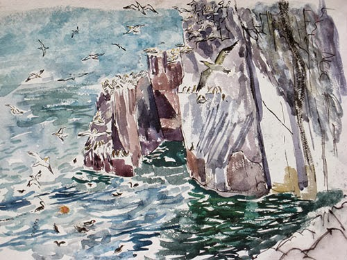 kitpricemoss-bassrock-watercolour