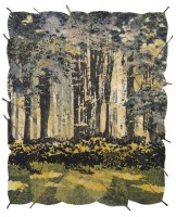 janet-french-summer-evening-screenprint-on-beech-leaves-44x41cm