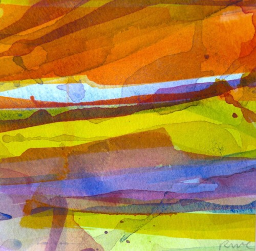 ruth-mccabe-sunset-light-watercolour-on-paper