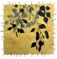 janet-french-silver-birch-leaves-on-handmade-paper-23x23cm