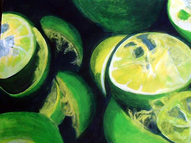 ruth-mccabe-acrylic-painting-still-life-limes