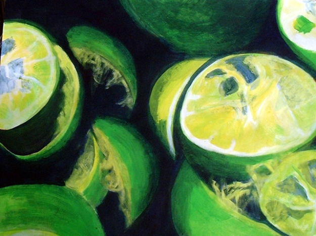 ruth-mccabe-acrylic-painting-still-life-limes