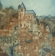 laurie-rudling-en-route-to-santiago-collagraph
