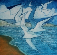 laurie-rudling-tern-tern-tern-again-collagraph